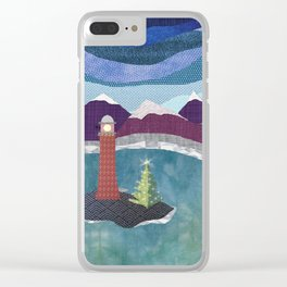 West Coast Christmas Clear iPhone Case