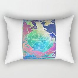 Wheel Of Fortune - A Soft Tarot Print Rectangular Pillow