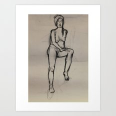 Girl, in Peace Art Print