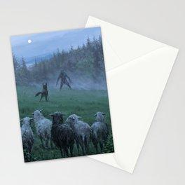 Shepherd and his faithful dog Stationery Cards