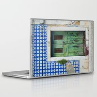 portugal Laptop & iPad Skins featuring DOOR, LISBON, PORTUGAL by Sébastien BOUVIER