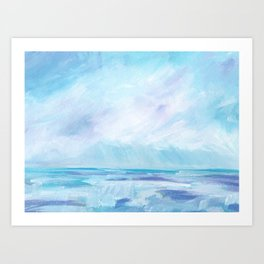 Sun Showers - Purple Ocean Seascape Art Print