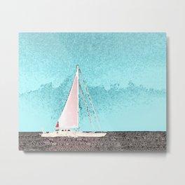 """Sailboat #5"" Art of the Sea by Murray Bolesta Metal Print"