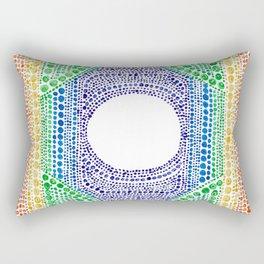 Rainbow Dot Mandala Rectangular Pillow