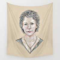melissa smith Wall Tapestries featuring Melissa by Jeanzi