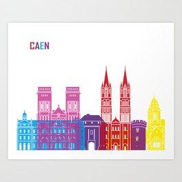 Caen skyline pop Art Print