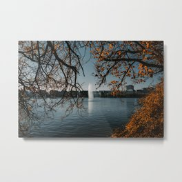 Hamburg in Fall Metal Print