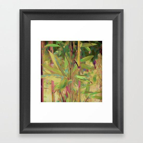 Painted Bamboo Framed Art Print