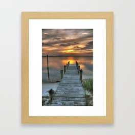Good Night Delmarva  Framed Art Print