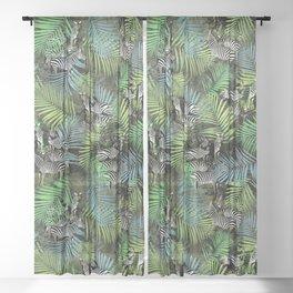 zebra ville Sheer Curtain