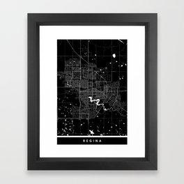 Regina - Minimalist City Map Framed Art Print
