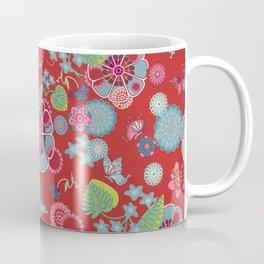 Sakura Red Coffee Mug