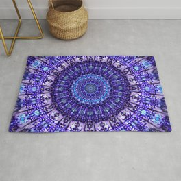 Indulgence of lavendery details in the lace mandala Rug