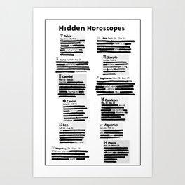 Hidden Horoscopes Art Print