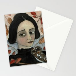 """""""Fall of the Dead Leaves"""", Four Seasons Portait Stationery Cards"""