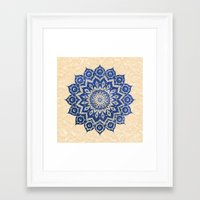 chris brown Framed Art Prints featuring ókshirahm sky mandala by Peter Patrick Barreda