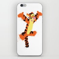 tigger iPhone & iPod Skins featuring Tigger by DanielBergerDesign