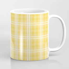 Spring 2017 Designer Color Primrose Yellow Tartan Plaid Check Coffee Mug