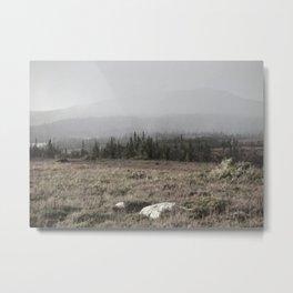 Fog roll over the hills Metal Print