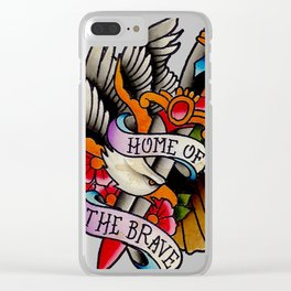 Home of the Brave Clear iPhone Case