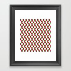 Holiday Ribbon Pattern Framed Art Print