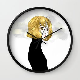 Nana in The Gold Hair Wall Clock