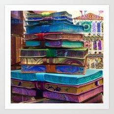 Hand MAde Books In Venice Art Print