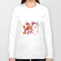 oriental Long Sleeve T-shirts featuring oriental by Lua Fraga