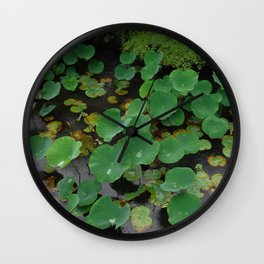 Pond Pads 2 Wall Clock