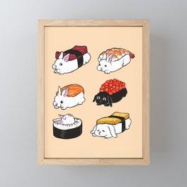 Sushi Bunnies Framed Mini Art Print
