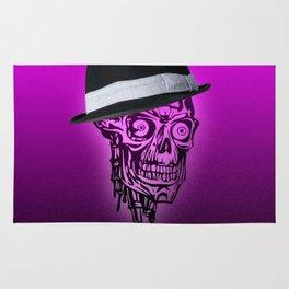 Elegant Skull with hat,hot pink Rug