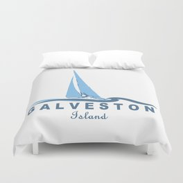 Galveston Texas. Duvet Cover