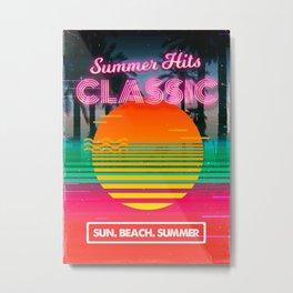 Retrowave: Classic Summer Hits Metal Print