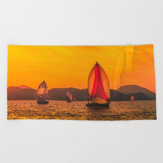 Solar wind Beach Towel