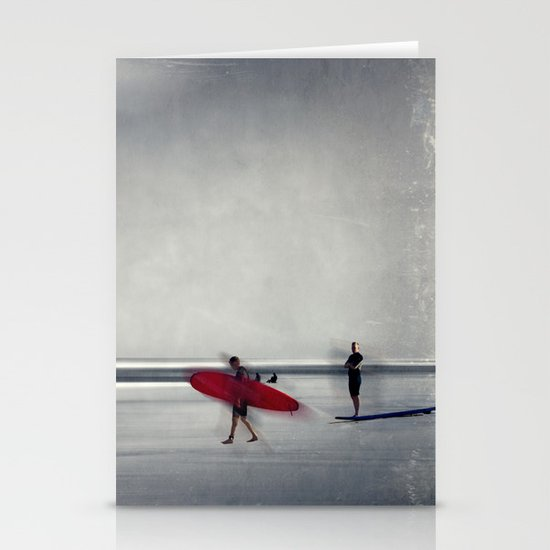 red surf board Stationery Cards