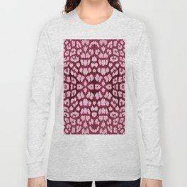 Leopard Print - Wine Long Sleeve T-shirt