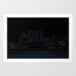 Curacao Night Art Print