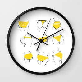 All butts are cute Wall Clock