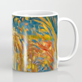 Colorful Summer Fireworks in Nice, France landscape by Nicolai Tarkoff Coffee Mug