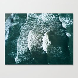 Wavy Waves on a stormy day Canvas Print