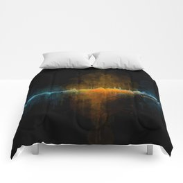 Istanbul City Skyline Hq v4 Comforters