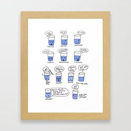 half a glass of water Framed Art Print