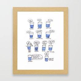 half a glass of water Framed Art Print