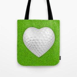 Golf ball heart / 3D render of heart shaped golf ball Tote Bag