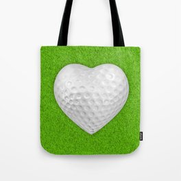Golf ball heart / 3D render of heart shaped golf ball Tote Bag