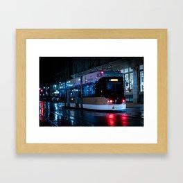 Milwaukee Streetcar in the Rain 1 Framed Art Print