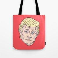 putin Tote Bags featuring Trumputin by Chris Piascik