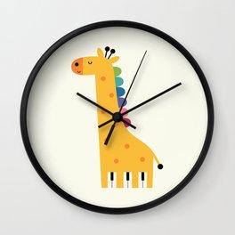 Giraffe Piano Wall Clock