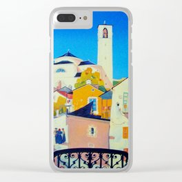 Ticino Switzerland - Vintage French Travel Ad Clear iPhone Case