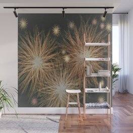 Gold Stars Wrapped in Night Wall Mural